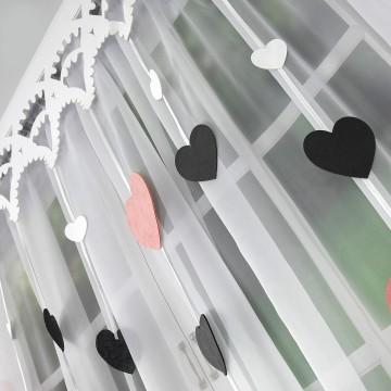 Firana kolorowe serca