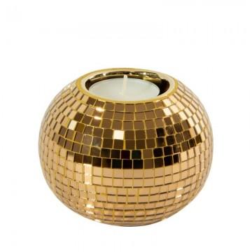 Świecznik kula AURORA Złoty