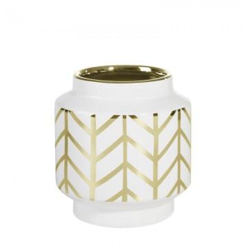 Ceramika EMERA3 Biały/złoty