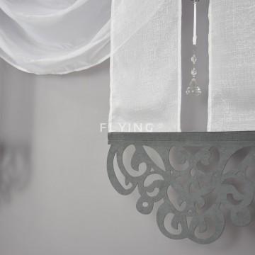 Dwa panele z lambrekinem szare