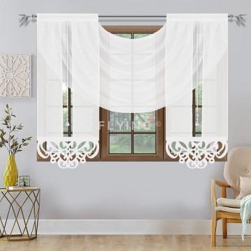 Dwa panele z lambrekinem białe