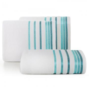 Ręcznik Livia biały+turkus
