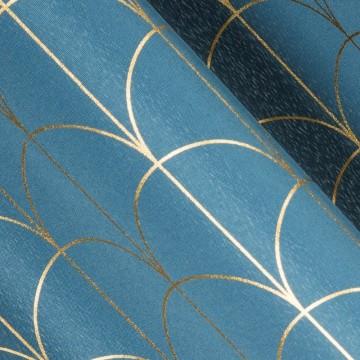 Zasłona Cande Niebieska 140X250
