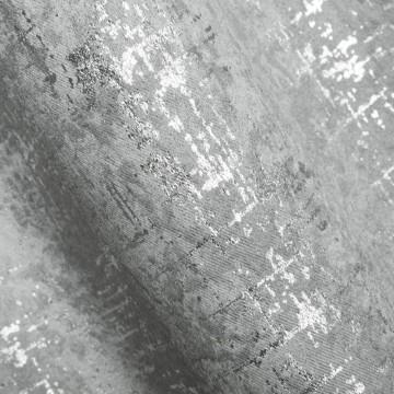 Zasłona Nessy stal + srebrny 135x270