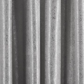 Zasłona Ebru stal+srebro