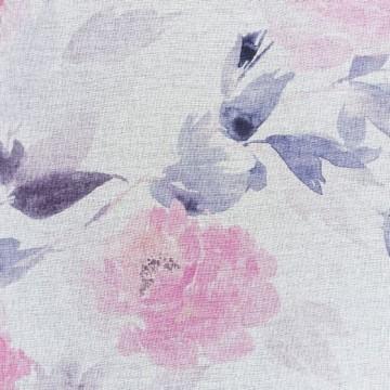Firana BRIANA Biały/różowy